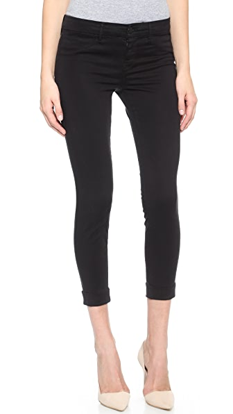 J Brand Anja Cuffed Pants - Black
