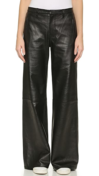 J Brand Carine Wide Leg Leather Pants | SHOPBOP