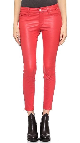 J Brand L8035 Mid Rise Leather Pants