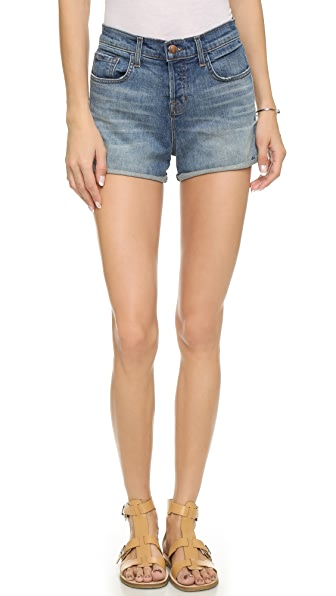 J Brand Gracie High Rise Cuffed Shorts   SHOPBOP