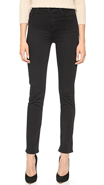 J Brand Maria High Rise Jeans - Seriously Black