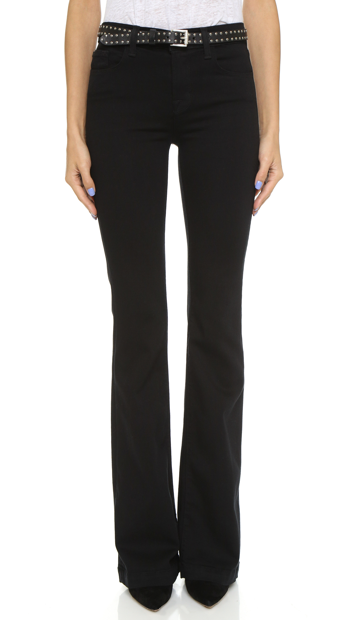 J Brand Maria High Rise Flare Jeans | 15% off first app purchase ...