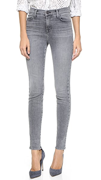 J Brand Maria High Rise Skinny Jeans at Shopbop
