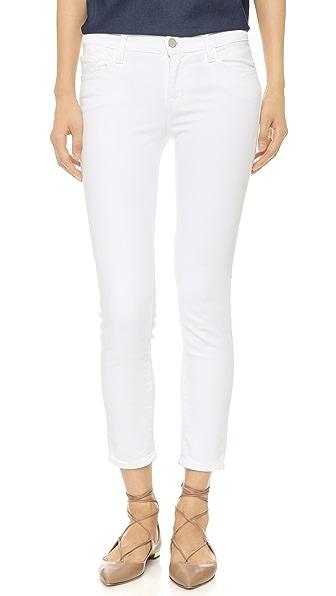 J Brand 835 Mid Rise Capri Jeans - Blanc