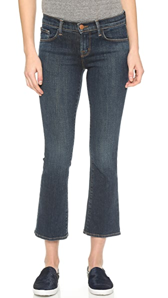 J Brand Selena Cropped Boot Cut Jeans - Lonesome
