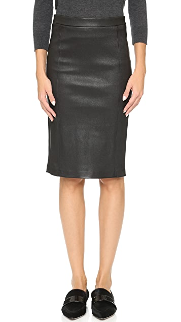 J Brand Estelle Leather Skirt