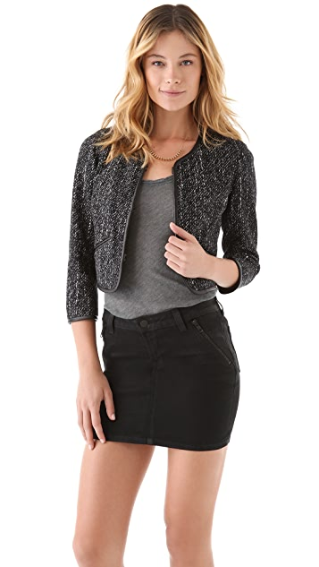 J Brand Ready-to-Wear Alana Tweed Bed Jacket