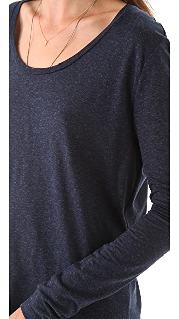 J Brand Ready-to-Wear Dara Long Sleeve Tee