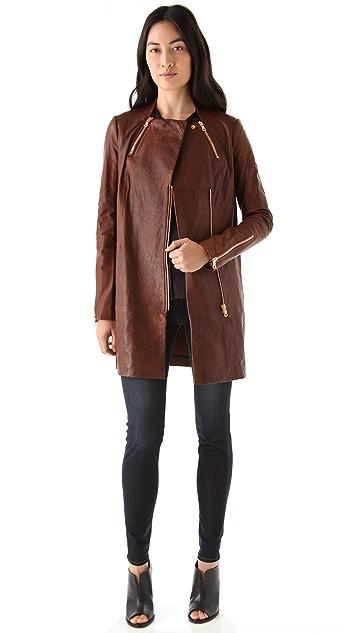 J Brand Ready-to-Wear Beta Leather Coat
