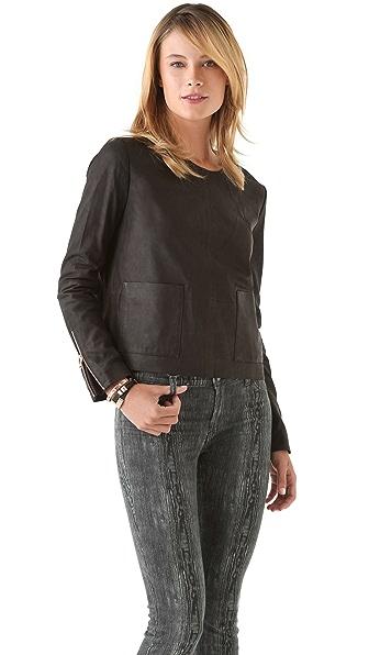J Brand Ready-to-Wear Bliss Suede Sweatshirt