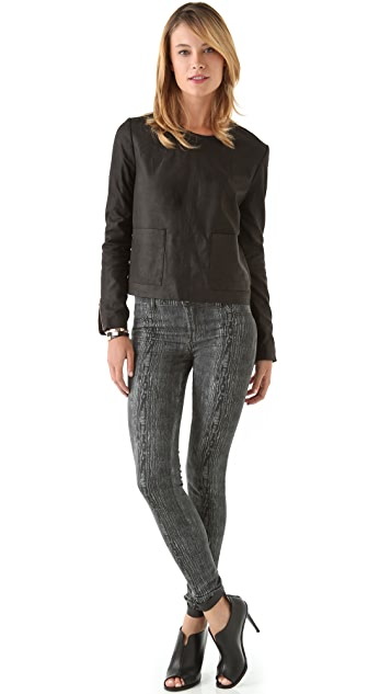 J Brand Ready-to-Wear Bliss Suede Sweatshirt
