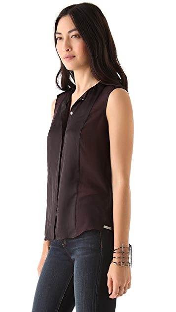 J Brand Ready-to-Wear Bridget Sleeveless Shirt