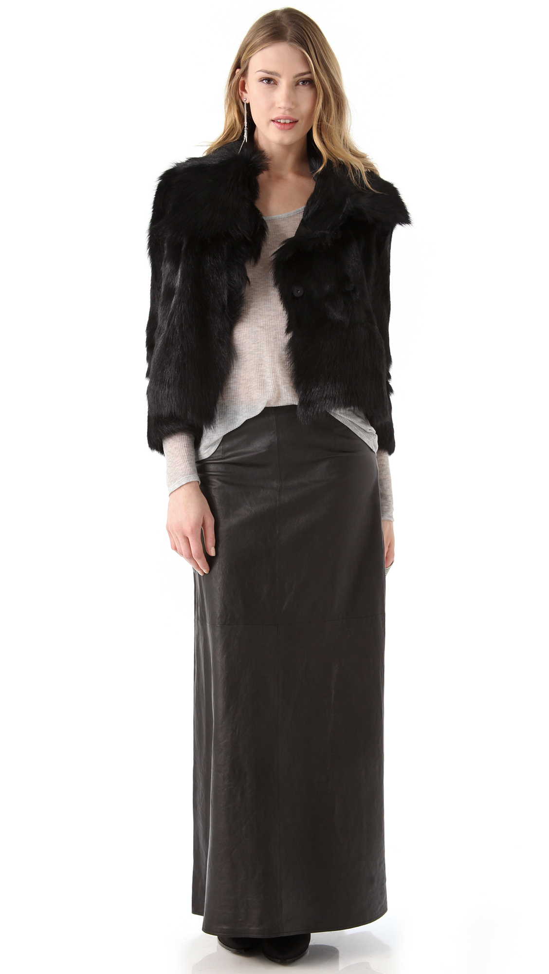 J Brand Ready-to-Wear Cameo Leather Maxi Skirt | SHOPBOP