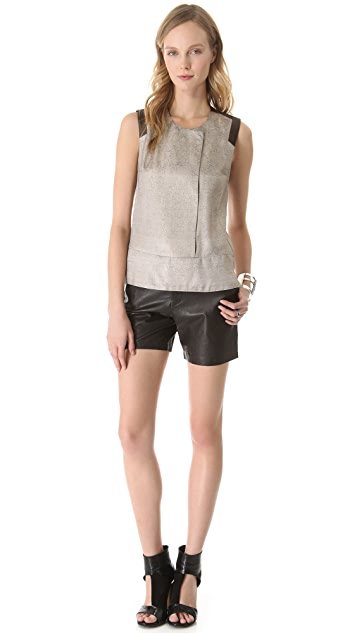 J Brand Ready-to-Wear Bergman Leather Shorts
