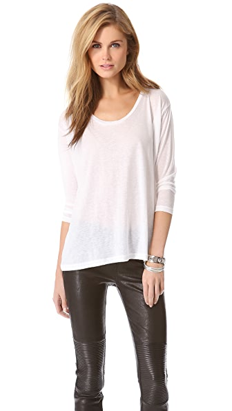 J Brand Ready-to-Wear Dusty Boat Neck Tee