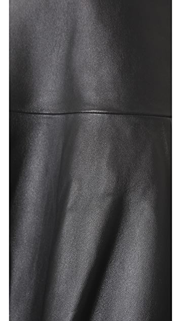 J Brand Ready-to-Wear Torre Leather Skirt