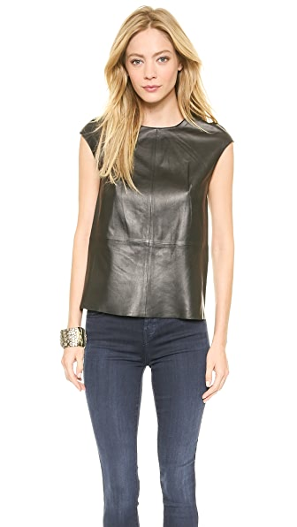 J Brand Ready-to-Wear Karo Leather Top