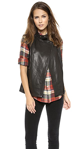 J Brand Ready-to-Wear Madisyn Leather Vest