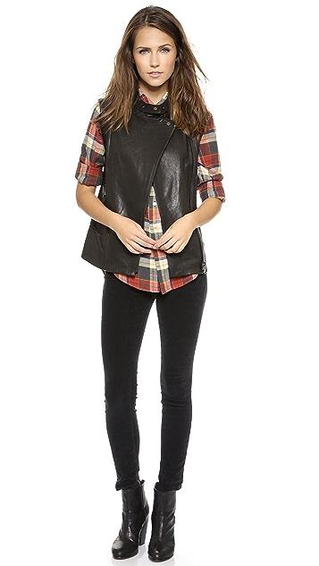 J Brand Ready-to-Wear Madisyn Leather Vest