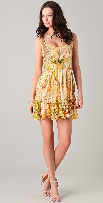 Just Cavalli Python Print Baby Doll Dress