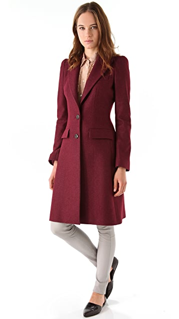 Just Cavalli Heavy Crepe Long Coat