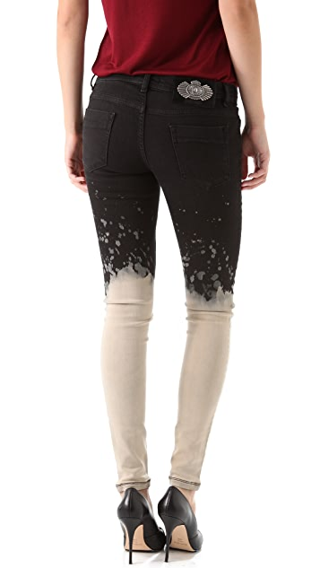 Just Cavalli Cropped Bleached Jeans