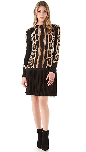 Just Cavalli Long Sleeve Leopard Dress