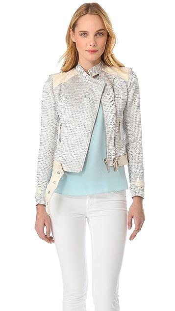 Just Cavalli Tweed Moto Jacket