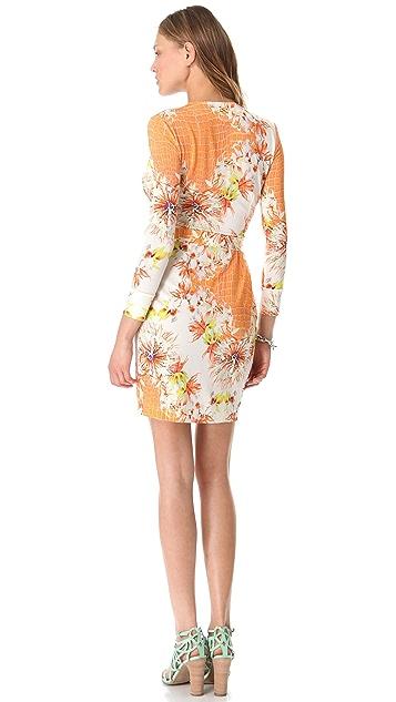 Just Cavalli Venus Print Wrap Dress
