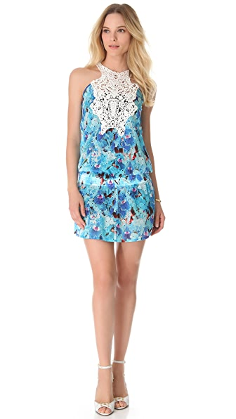 Just Cavalli Drop Waist Eyelet Dress