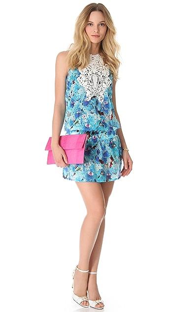 Just Cavalli Drop Waist Eyelet Dress