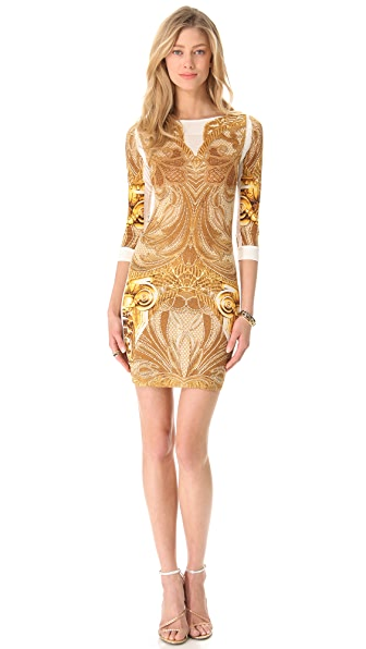 Just Cavalli Athena Long Sleeve Dress
