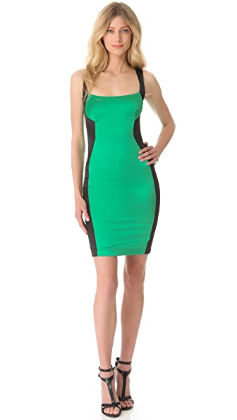 Just Cavalli Color Block Piped Dress