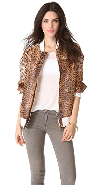Just Cavalli Leopard Bomber Jacket