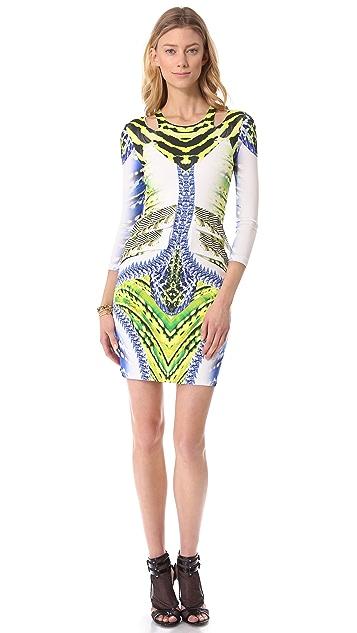 Just Cavalli Printed Long Sleeve Dress