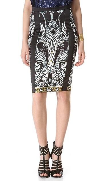 Just Cavalli Print Pencil Skirt