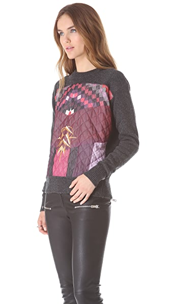 Just Cavalli Quilted Sweater