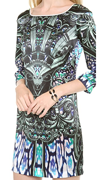 Just Cavalli Gothic Victorian Print Dress