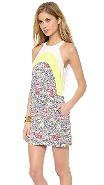 Just Cavalli Wandle Wallpaper Print Tank Dress