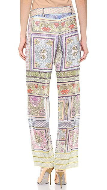 Just Cavalli Morris Print Wide Leg Pants