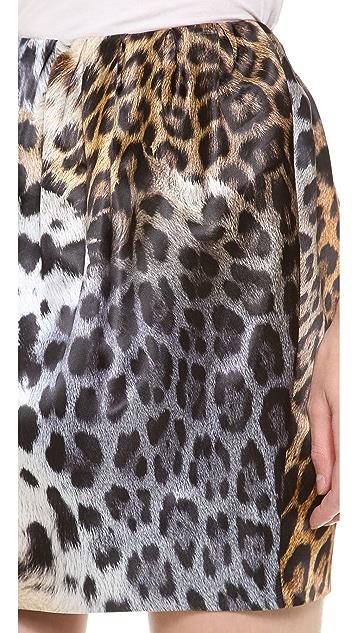 Just Cavalli Leo Degrade Print Miniskirt