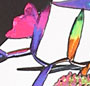 Tartan Flower Print