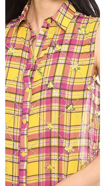 Just Cavalli Tartan Print Shirtdress