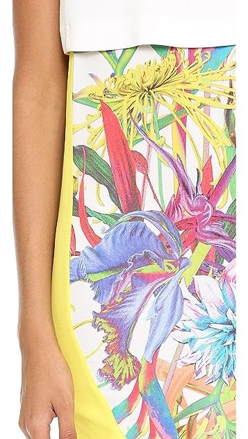 Just Cavalli Crop Top Combo Dress