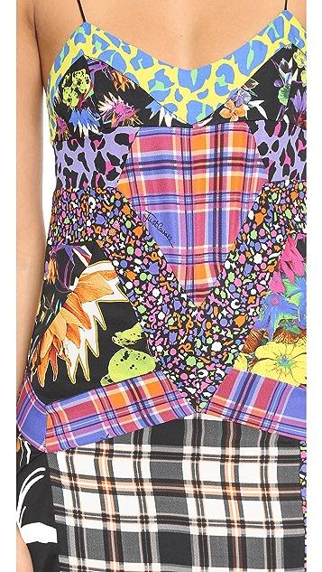 Just Cavalli Patch Printed Slit Dress