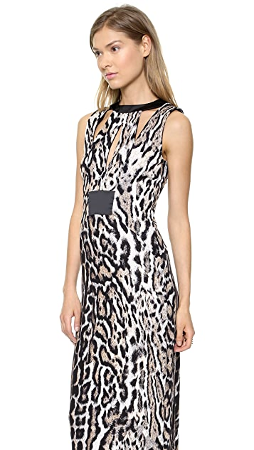 Just Cavalli Cutout Leopard Gown