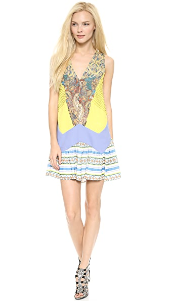 Just Cavalli Print V Neck Dress