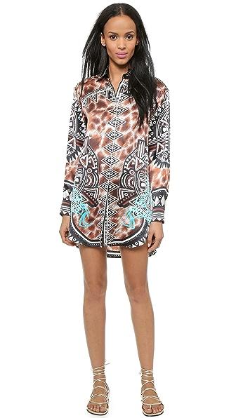 Kupi Just Cavalli online i prodaja Just Cavalli Oversized Shirtdress Natural haljinu online
