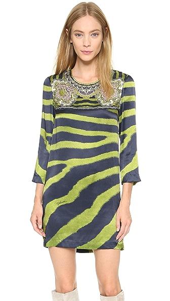 Kupi Just Cavalli online i prodaja Just Cavalli Zebra Print Dress Lime Green haljinu online