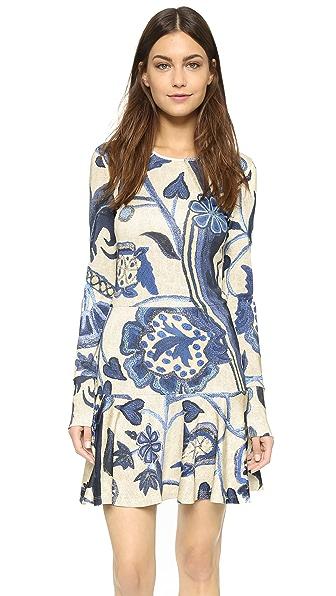 Just Cavalli Victoria Print Long Sleeve Dress